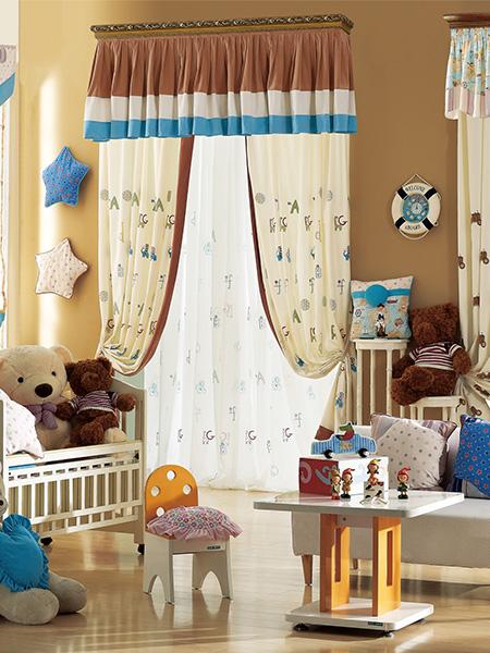 涪城儿童房窗帘设计