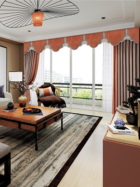 新中式窗帘设计